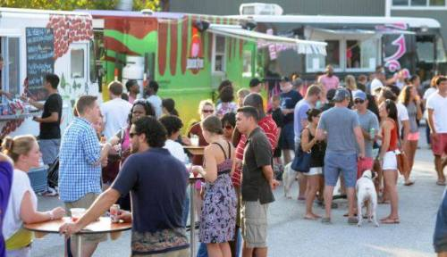 Food trucks at the gathering