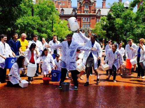 Johns Hopkins ALS researchers take the ice bucket challenge