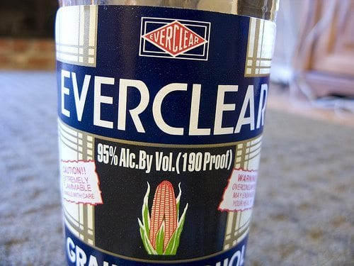 Everclear-190-Proof-Label