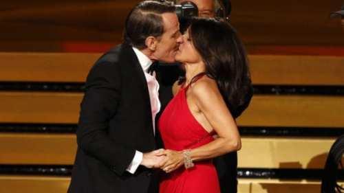 Julia Louis-Dreyfus Kissed by Bryan Cranston