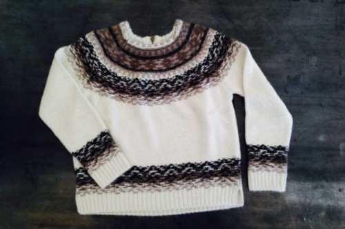 Brochu Walker - Fair Isle Sweater in super soft Baby Alpaca $438