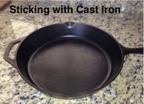 Cast iron pans are an inexpensive alternative to nonstick coated cookware. Used for generations, cast iron offers even heating and durability and can also be heated safely to high temps.