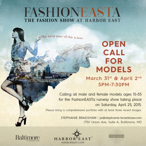 FashionEASTa Model Call Web Flyer