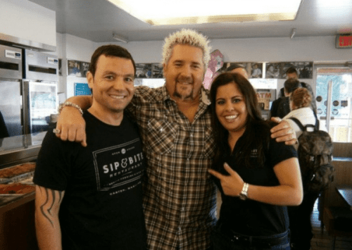 Anthony Vasilades (left) with Guy Fieri