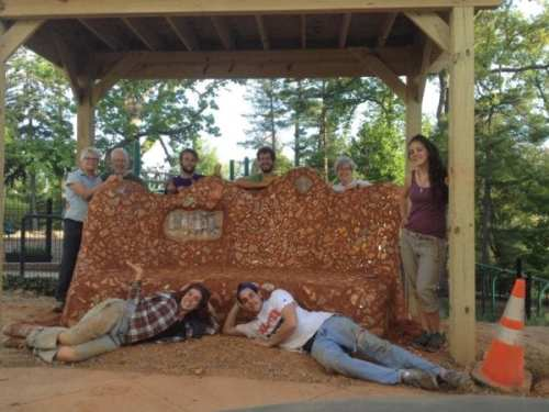 "The Harvest Collective team provided RPCS critical know-how and volunteers for their all-school ""Peace on Earthbench."""
