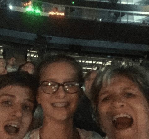 Family members at Taylor Swift concert in Foxboro, Massachusetts (see Entertainment, below).