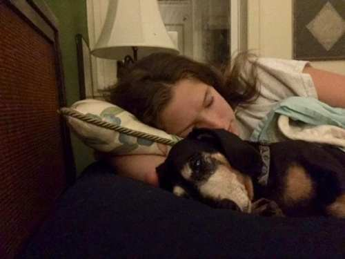 Jane Winik sleeping