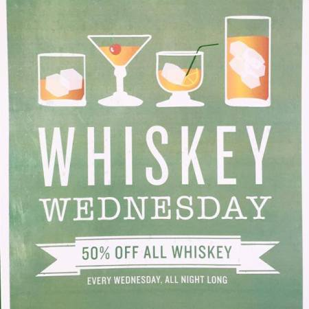 Saddle up to your favorite #Whiskey tonight at Johnny's. Any whiskey of your choosing is %50 off! #WhiskeyWednesday