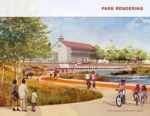 Park Rendering, Port Covington