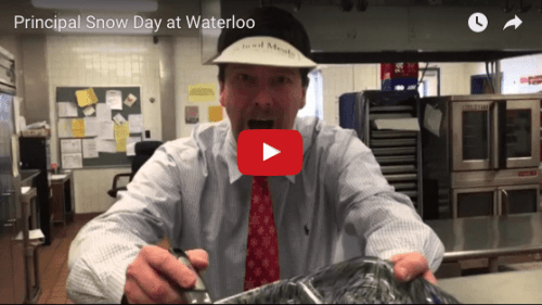 waterloo principal snow day video