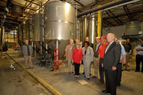 Photo of Lt. Gov. Boyd Rutherford at the opening of Peabody Heights Brewery, via Flickr/Maryland GovPics