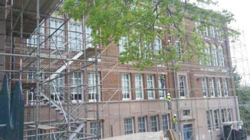 Roland Park Public roof construction