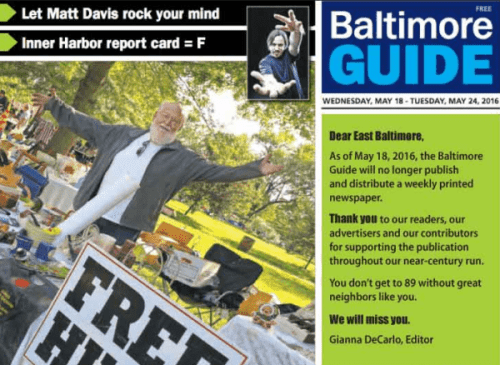 This week's Baltimore Guide cover.