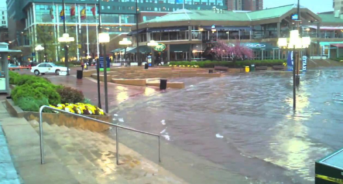 Coastal flooding is expected to increase due to climate change making Inner Harbor flooding more commonplace.