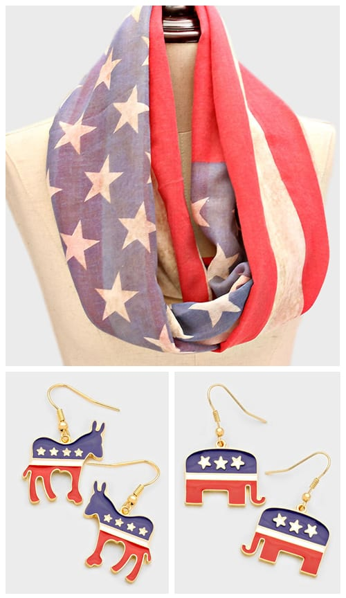 Patriotic Accessories from Liza Byrd Boutique