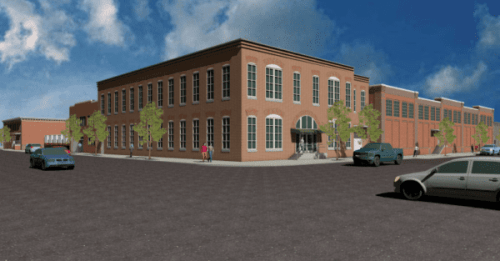 A rendering of the new building (via H&S Bakery)