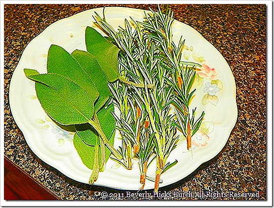 Herbs for the Turkey Cavity
