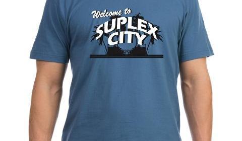 welcome_to_suplex_city_mens_vneck_tshirt