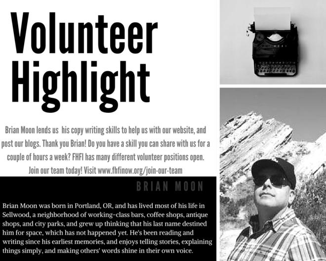 Volunteer Highlight: Brian Moon
