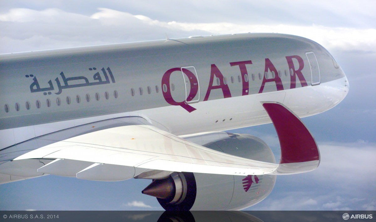 Airbus delivers first A350 XWB to Qatar Airways