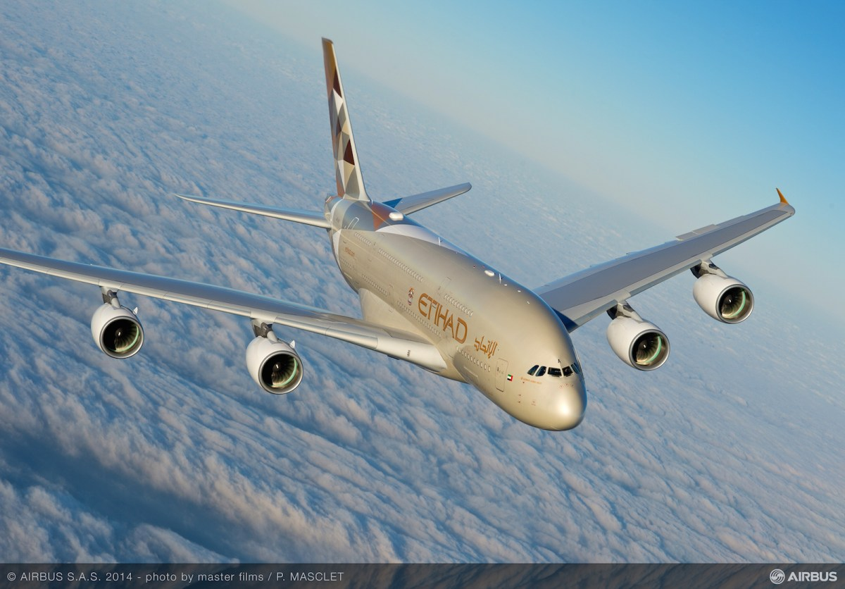 Etihad takes delivery of it's first Airbus A380