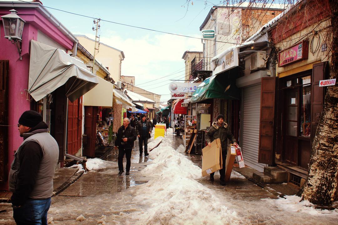 Macédoine (FYROM) : «véluge» sur les routes enneigées