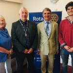 The Andrews Family visits Bangor Rotary