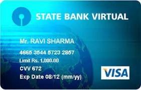 sbi virtual card