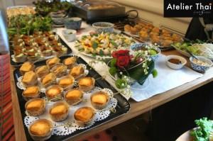 Atelier Thai - Ensemble de différents plats traiteur