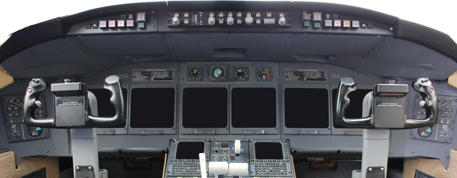 Banyan Avionics corporate jet cockpit