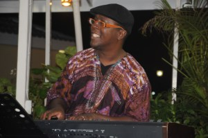 Stefan Walcott, pianist with The Original Unit