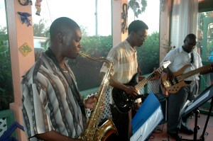 The Mylon Clark Trio plays for BJS members July 2012