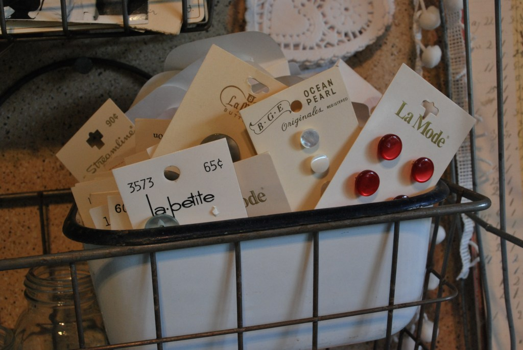 vintage buttons make great display