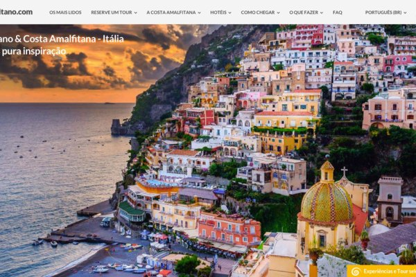Positano.com in portoghese