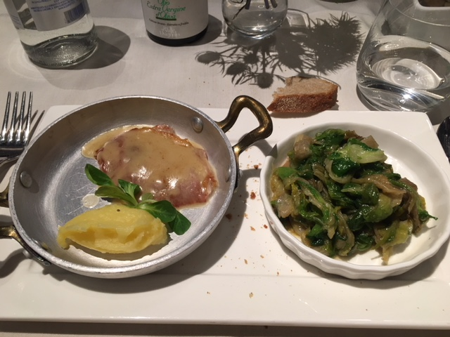 saltimbocca with scarola