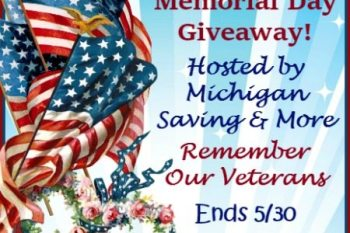 Memorial Day Giveaway  FOUR WINNERS!! Ends 5/30