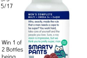 SmartyPants Men's Complete Supplement Giveaway Ends 5/17