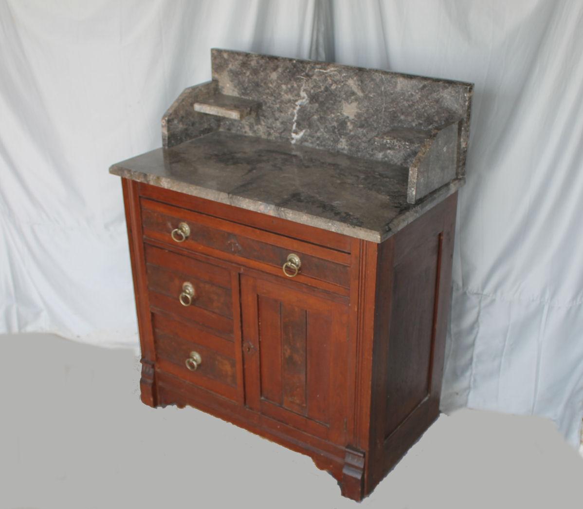 Charm Bargain S Victorian Walnut Eastlake Marble Wash Wash Stand Repurposed Wash Stand Uk houzz 01 Antique Wash Stand