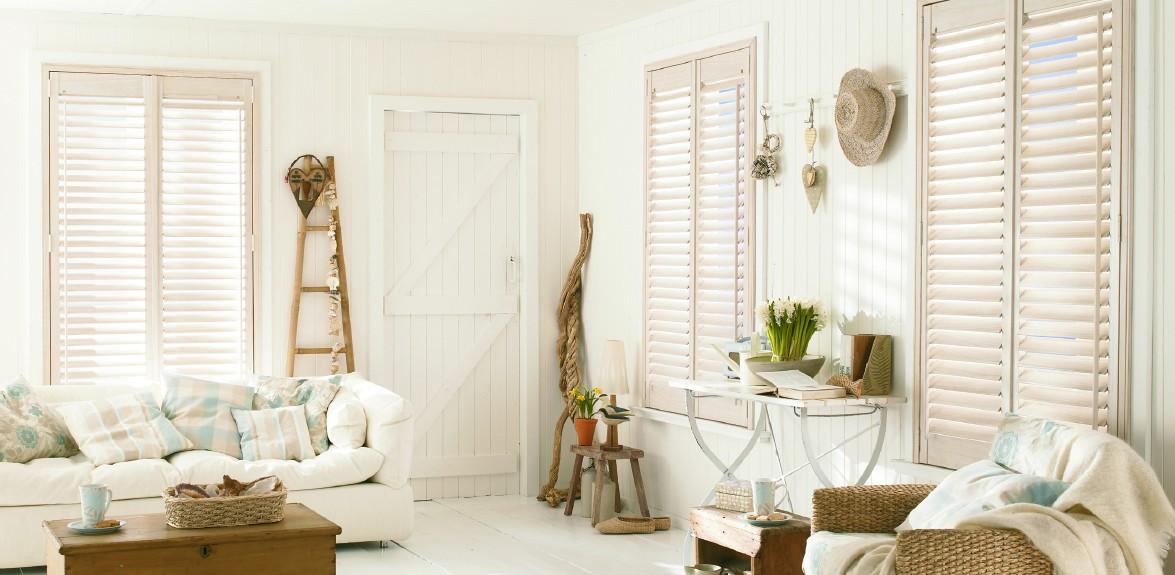 Beautiful stylish shutters
