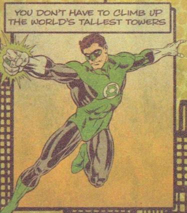 Green Lantern close-up