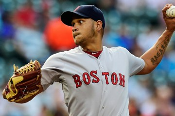 BALTIMORE, MD - JUNE 09:  Starting pitcher Eduardo Rodriguez #52 of the Boston Red Sox throws a pitch to a Baltimore Orioles batter in the first inning during a baseball game at Oriole Park at Camden Yards on June 9, 2015 in Baltimore, Maryland.  (Photo by Patrick McDermott/Getty Images)