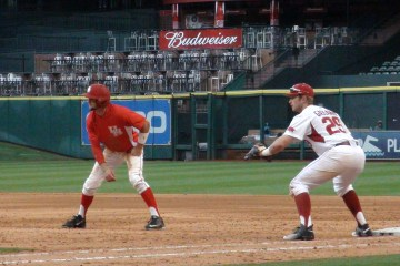 UH vs. Arkansas at the Shriners Hospitals for Children College Classic at Minute Maid Park in Houston, Tx.