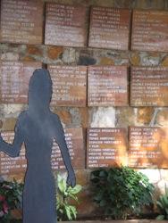 Het monument in El Mozote