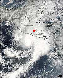 Hurricane Adrian, and our location at that moment