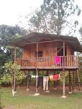 Onze cabaña op Finca Ixobel
