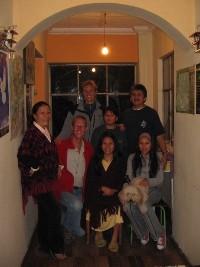 Wij met de familie van Luis en Maria-Elena