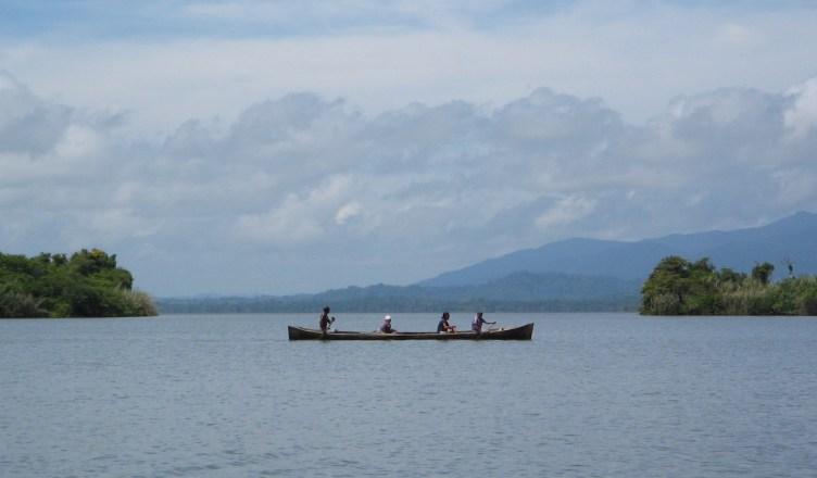 Uitzicht over Laguna Iban