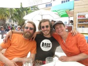 Rolf, Sam and bass in Cascais