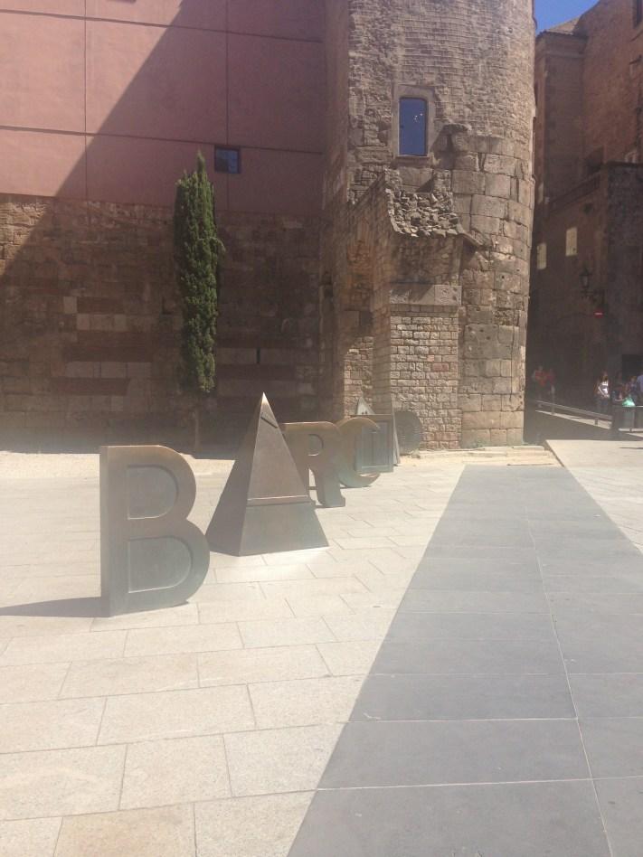 Sign in Gothic Quarter