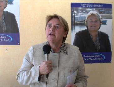 InfoBassin Marie Hélène Des Esgaulx réélue maire à Gujan-Mestras 230314 luxMHDE ITW3